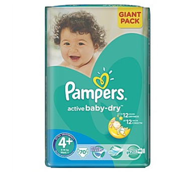 Pampers Active Baby-dry vel. 4+ Maxi+