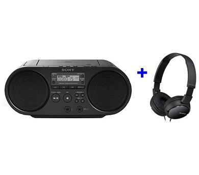 Sony ZS-PS50 černý + sluchátka MDR-ZX110B + DOPRAVA ZDARMA