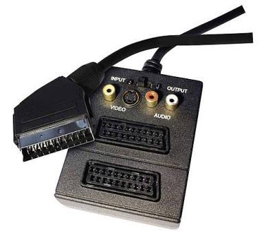 AV kabel SCART - 2x SCART + 3x CINCH + 1x SVHS 0,5m
