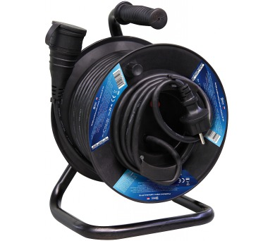 Gumový prodlužovací kabel na bubnu - spojka 25m + DOPRAVA ZDARMA