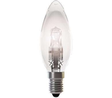Halogenová žárovka ECO Candle 42W E14 teplá bílá,stmívatelná