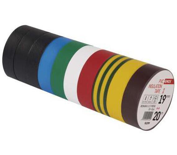 Izolační páska PVC 19mm / 20m barevný mix + DOPRAVA ZDARMA