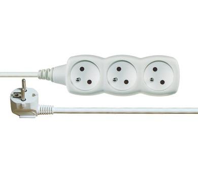 Prodlužovací kabel bílý 3 zásuvky 2m