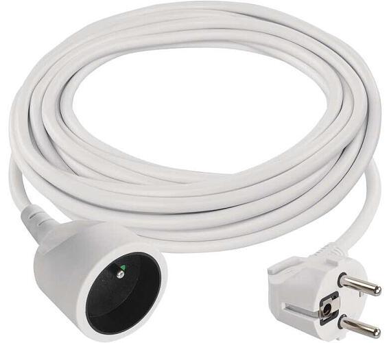 Prodlužovací kabel bílý spojka 5m