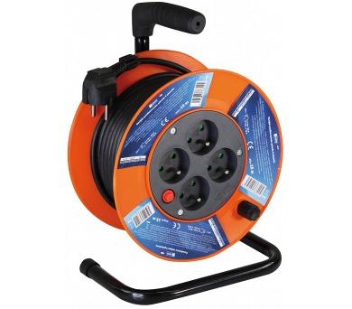 PVC prodlužovací kabel na bubnu - 4 zásuvky 15m + DOPRAVA ZDARMA