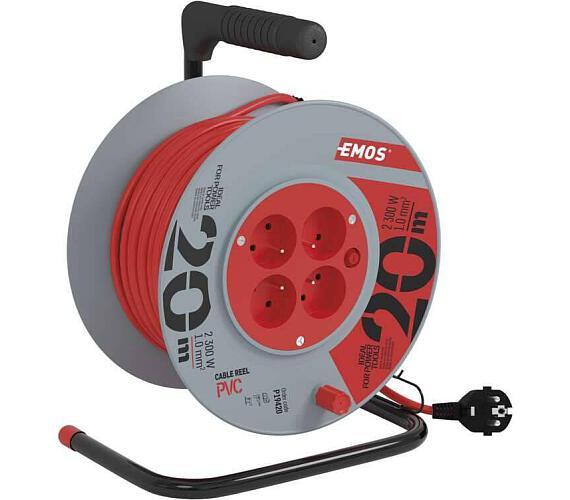 PVC prodlužovací kabel na bubnu - 4 zásuvky 20m + DOPRAVA ZDARMA