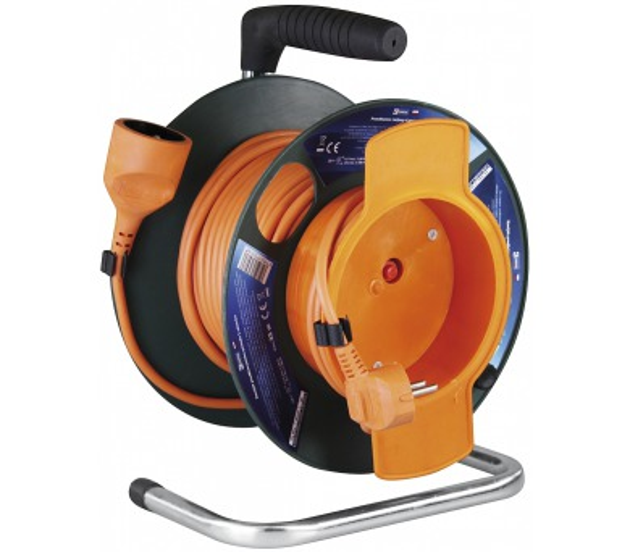 PVC prodlužovací kabel na bubnu - spojka 25m