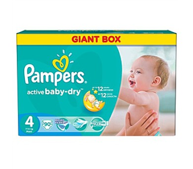 Pampers Active Baby-dry vel. 4 Maxi