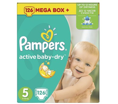 Pampers Active Baby-dry vel.5 Junior