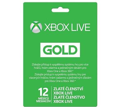 Microsoft Xbox LIVE Gold - zlaté členství 12 měsíců + DOPRAVA ZDARMA