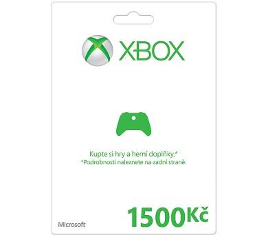 Microsoft Xbox LIVE FPP Czech Czech Republic 1500 CZK + DOPRAVA ZDARMA