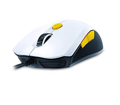 Genius GX Gaming Scorpion M6-600 / optická / 6 tlačítek / 5000dpi - bílá/žlutá
