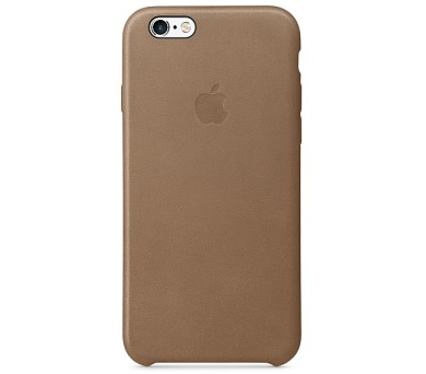 Apple Leather Case pro iPhone 6s - Brown