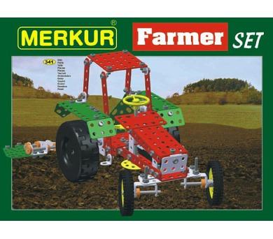 Stavebnice MERKUR Farmer Set 20 modelů 341ks v krabici 36x27x5,5cm + DOPRAVA ZDARMA