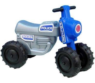 Odrážedlo CROSS Policie plast výška sedadla 28cm nosnost do 25kg asst 2 barvy od 18 měsíců