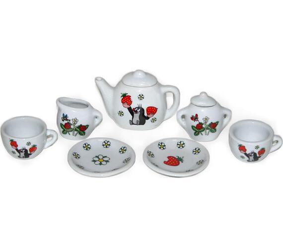 Nádobí - čajový set Krtek porcelán na kartě