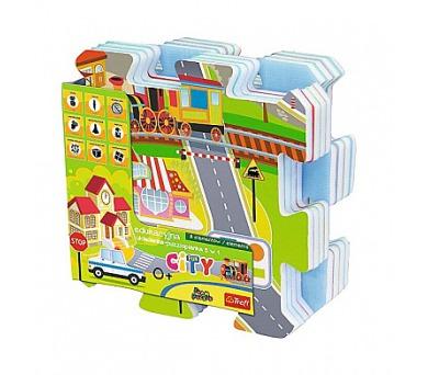 Pěnové puzzle Město 32x32cm 9ks v sáčku 10m+ + DOPRAVA ZDARMA