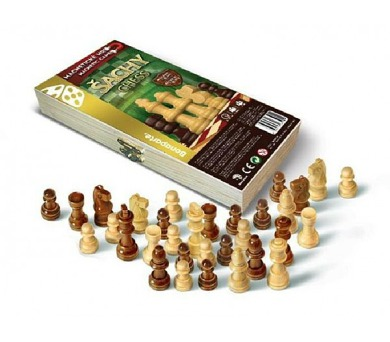 Šachy magnetické dřevo společenská hra