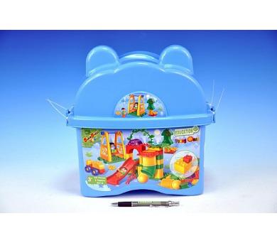 Stavebnice BanBao Dětské hřiště 62ks + 2 figurky v plastovém boxu + DOPRAVA ZDARMA
