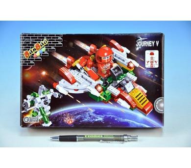 Stavebnice BanBao Vesmírná loď 145ks + 1 figurka v krabici 23x15x5cm