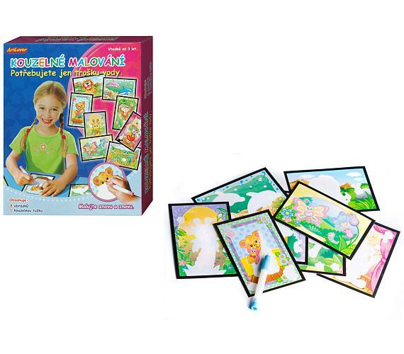 Kouzelné malování vodou 8 obrázků v krabici