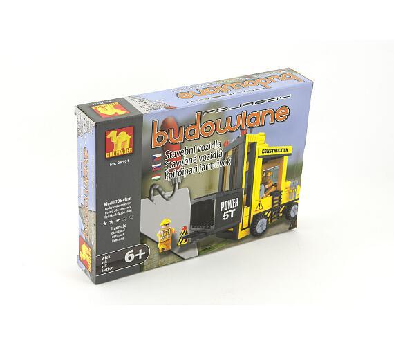 Stavebnice Dromader Auto Vysokozdvižný Vozík 29501 206ks v krabici 25,5x18,5x4,5cm + DOPRAVA ZDARMA