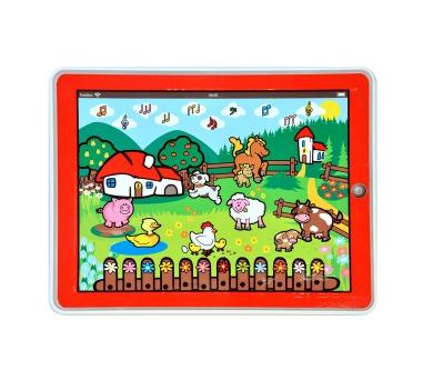Tablet farma pro nejmenší Moje první zvířátka 24x19x1,5cm na baterie v krabičce MPZ