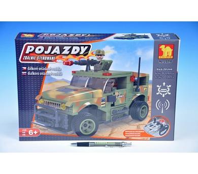 Stavebnice Dromader Vojáci Auto RC 20218 na vysílačku na baterie 284ks v krabici 37x24x7cm + DOPRAVA ZDARMA