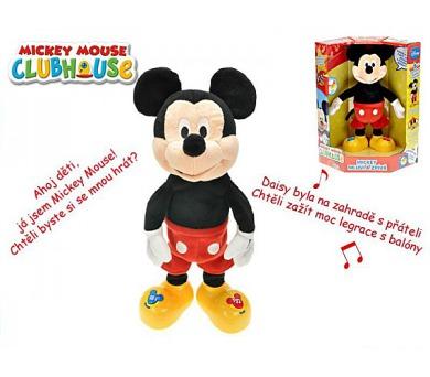 Mickey Mouse Clubhouse plyš 37cm česky mluvící a zpívající na baterie v krabičce