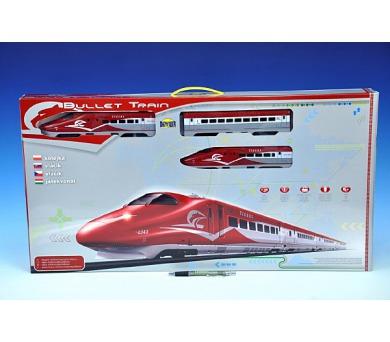 Vlak Bullet Train + dráha 1,63m + doplňky na baterie se zvukem se světlem v krabici + DOPRAVA ZDARMA