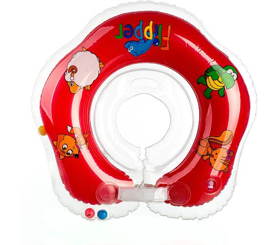 Plavací nákrčník Flipper/Kruh červený v krabici 0+