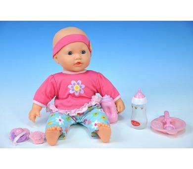 Panenka miminko reálně dýchající plast 35cm měkké tělo v krabici + DOPRAVA ZDARMA