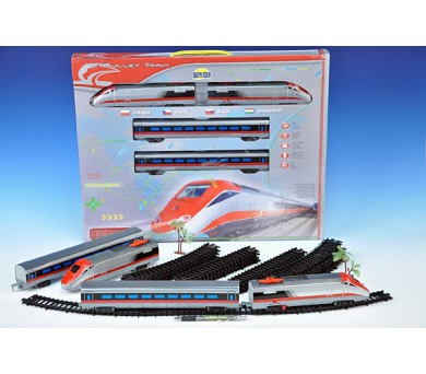 Vlak Bullet Train + dráha 190x121cm plast na baterie se zvukem se světlem v krabici + DOPRAVA ZDARMA