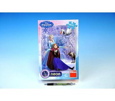 Puzzle Ledové království/Frozen svítící ve tmě 100dílků XL 33x47cm v krabici 18x26x6cm