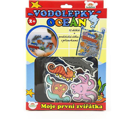 Vodolepky Moje první zvířátka oceán pěnová sada se síťkou 12ks v krabici MPZ