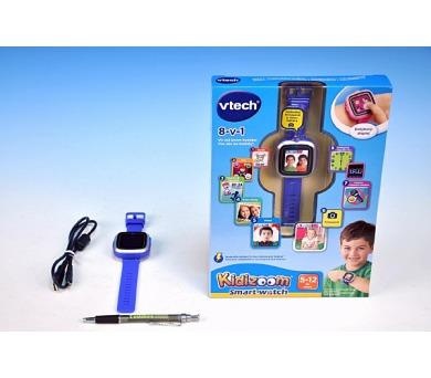 Kidizoom VTech Smart hodinky modré s fotoaparátem a videokamerou a doplňky na baterie v krabici + DOPRAVA ZDARMA