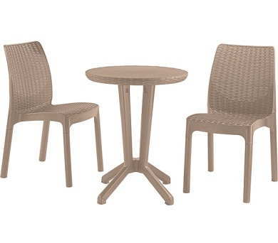 Allibert Bistro set cappuccino