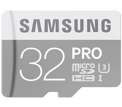 Samsung Micro SDHC PRO 32GB UHS-I U3 (90R/80W) + adapter + DOPRAVA ZDARMA