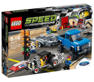 Stavebnice Lego® Speed Champions 75875 Ford F-150 Raptor a Ford Model A Hot Ro