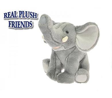 Slon plyšový 23cm sedící v sáčku 0m+ + DOPRAVA ZDARMA