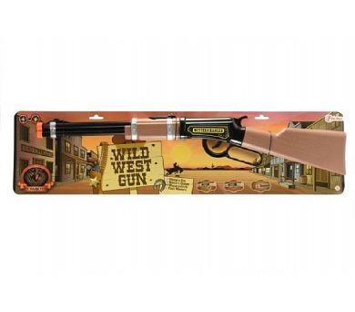 Pistole/Puška western 62cm plast na baterie 2xAA se zvukem se světlem na kartě