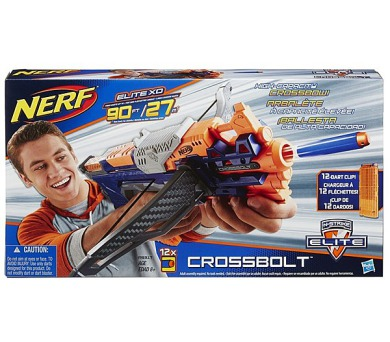 Hasbro Elite Crossbolt kuše se zásobníkem