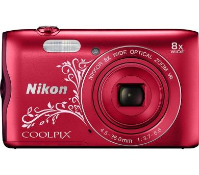 Nikon Coolpix A300 červený Lineart + DOPRAVA ZDARMA