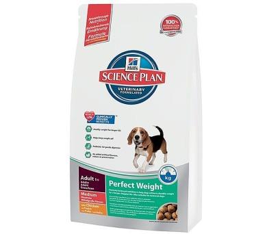 Granule Hill's Canine Adult Perfect Weight Medium 10 kg + DOPRAVA ZDARMA