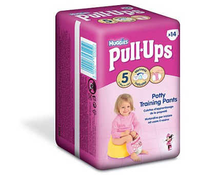 Plenky HUGGIES® Pull Ups Medium - Girls 14-18 kg
