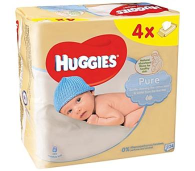Ubrousky čistící HUGGIES® QUATRO Pack Pure 4x56ks
