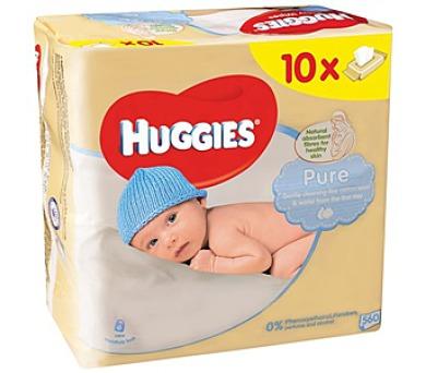 Ubrousky čistící HUGGIES® Pure 10 x 56ks