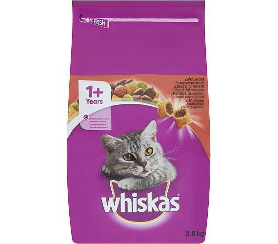 Whiskas s hovězím masem 3,8 kg