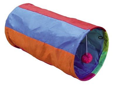 Nobby Rainbow šustivý tunel 25x50cm - fialovo-oranžová