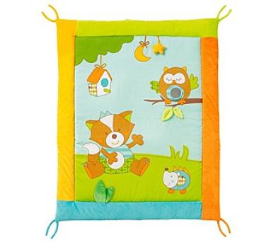 Hrací deka Baby Fehn Forest acitivity plyšová
